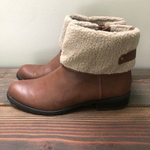 Style & Co Brown Boots with Faux Fur